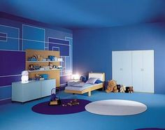 Blue And Purple Room bedroom paint colors - yellow and purple bedroom decorating ideas