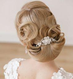 Brautfrisur für lange Haare