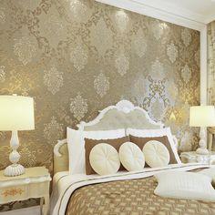 Papel de parede párr quarto Pavimentada dormitorio relieve tridimensional no tejida fondo de pantalla salón telón de fondo de papel tapiz de Damasco(China (Mainland))