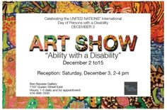 """Ability with a Disability"" Exhibit Coming Up On Dec 2 @ The Ben Navaee Gallery"