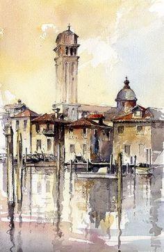 !! Tony Belobrajdic WATERCOLOR Venice