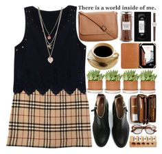 Holy Ground, Coffee Date- Polyvore Contest Entry by heartart on Polyvore featuring Burberry, Acne Studios, Coach, Miss Selfridge, J.Crew, Cole Haan, Williams-Sonoma and Nanda Home