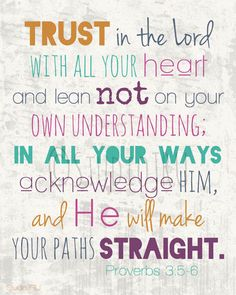 Scripture art, Trust in the Lord, 8x10 Fine Art Print | StudioJRU - Print on ArtFire
