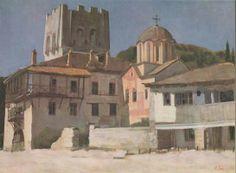 Pavlos Samios Mediterranean Art, Greek Paintings, Greek Art, 10 Picture, Conceptual Art, Fresco, Mosaics, Painters, Printmaking
