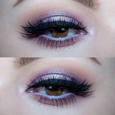 Lilac and silver halo eyes #eyemakeup #partyqueenbeauty #partyqueenbrush