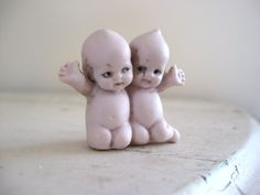 German Doll Antique Twin Bisque Babies by Somethingcharming