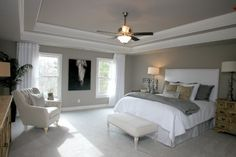 See new single-story, ranch style and luxury homes for sale in Sterling on the Lake in Flowery Branch. Master Suite, Master Bedroom, Bedroom Decor, Flowery Branch, Open Concept Floor Plans, New Home Designs, Ranch Style, Model Homes, Luxury Homes