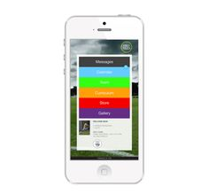 User Interface and recruiting website design for youth soccer app First Touch by de.MO