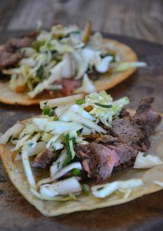 Recipe: Korean Flank Steak Tacos with Asian Pear Slaw