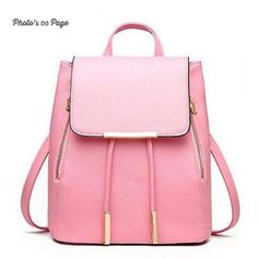 New Candy color bags For Teenage Girls Travel Backpack Korean Women Backpack  Leisure Student Schoolbag Soft PU Leather Women Bag 25104ddb6c9da