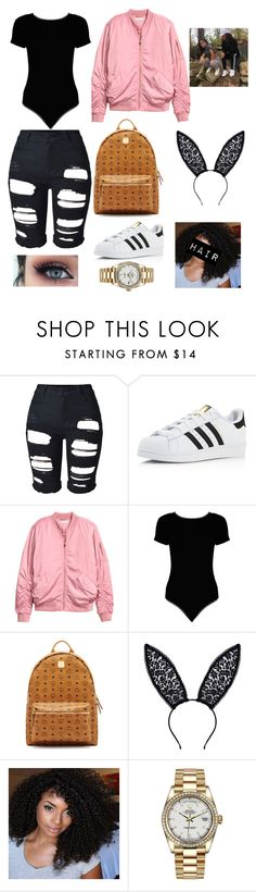 """Siangie Twins.."" by moocha-jessica on Polyvore featuring adidas, Boohoo, MCM, Fleur du Mal and Rolex"