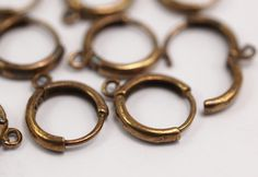 20 Raw Brass Leverback Earring Findings  12x14 mm brs by yakutum