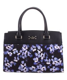 Another great find on #zulily! Scattered Hydrangea Leather Satchel #zulilyfinds