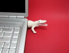 White Alligator USB Flash Drive