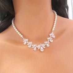 Pearl Wedding necklace bridal necklace wedding by treasures570