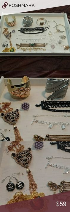 Vintage fashion jewelry lot designer brands Listing is for everything pictured. Lots of genuine precious metals Jewelry Necklaces