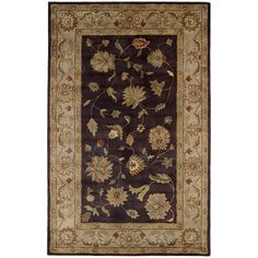 Charisma Eggplant/Ivory 9 ft. 6 in. x 13 ft. 6 in. Indoor Area Rug