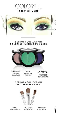 COLORFULEyes: Green Shimmer HOW TO. #sephoracollection #sephora #eyeshadows