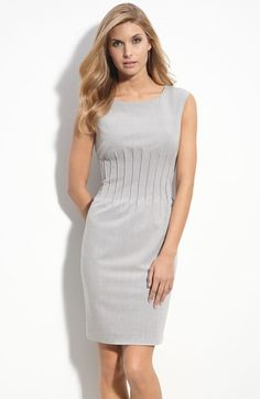 Calvin+Klein+Pleat+Waist+Stretch+Sheath+Dress+available+at+#Nordstrom