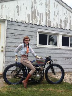 Featured Motor Doll Antique Motorcycle racer Brittney Olsen!