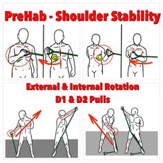 Develop more Shoulder Stability: Practice these four PreHab exercises and deliver more power!  Shoulder Stability is essential to upper body strength, power and skill. It will efficiently transfer kinetic energy and add power to your arm movements.  Follow the link for detailed instructions: https://www.facebook.com/prehabexercises/posts/571685252930908  Keep on practicing- Keep on getting better!  #prehab #shoulderstability #stabilityexercises #upperbodystrength   #preparetoperform