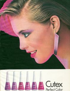 "awesomen80s:    (via vintage-advertisement) Those earrings are ""Awesome""!!!"