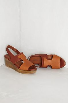 Tonal T-Strap Wedges | ANTHROPOLOGIE