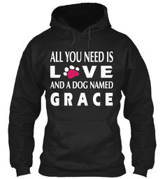 Grace Dog Named !!! Black Sweatshirt Front