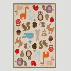 One of my favorite discoveries at WorldMarket.com: Animal Friends Rug