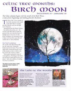 Celtic tree months - Birch moon