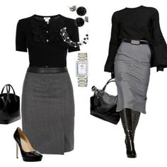 Office Attire, Work Attire, Black Evening Dresses, Cool Outfits, Amazing Outfits, Polyvore, How To Wear, Color, Clothes