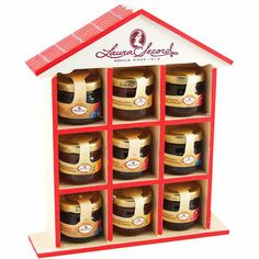 Laura Secord Jam Collection Set - turn into a spice rack that we can mount on the side of the fridge