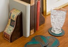 Alphabet Bookends and Lighting Cover Coasters