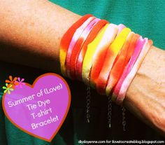 iLoveToCreate Blog: DIY Tie Dye T-Shirt Bracelet