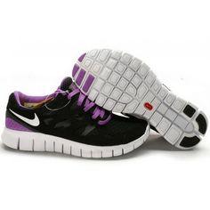 check out 50e5b 11a69 Women Nike Free Run 2 Shoes Black Purple Nike Pas Cher, Nike Running, Nike