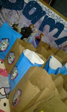 Bolsas dulces Frozen cumpleaños