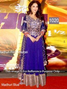 Indian Ethnic Beautiful Traditional Bollywood Designer replica stylis blue dress
