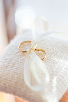 Lovely shot or the Ring Pillow -- On http://www.StyleMePretty.com/2014/04/01/romantic-diy-wedding-in-portugal/ Photography:  Brancoprata.com on #smp