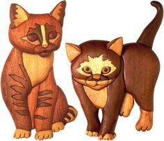 The Standing Kitten is the simpler of the two and ideal for a beginner to intarsia. Description from fantasticwoodworking.com. I searched for this on bing.com/images
