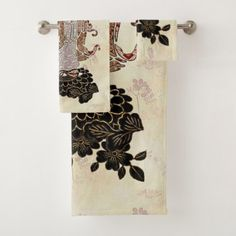 Madame Butterfly Bath Towel Set  $52.73  by BohemianBoundProduct  - cyo customize personalize unique diy