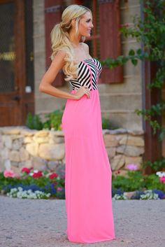 Sexy-Women-Pink-maxi-Dress-Casual-Style-Sleeveless-