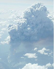 Pyrocumulonimbus cloud formed above a source of heat, such as wildfire, and may sometimes even extinguish the fire that formed it.