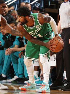 Every Sneaker Worn By Kyrie Irving This Season Irving Wallpapers, Nba Wallpapers, Kyrie Irving Celtics, New York From Above, Boston Sports, Boston Celtics, Nba Players, Like A Boss, Michael Jordan