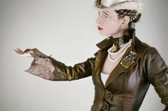 Gypsy Steampunk Leather Jacket OOAK  one of a by MoWestCreations