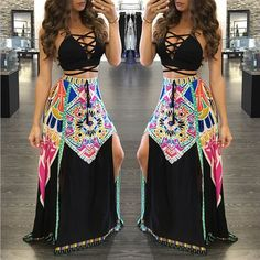 Sexy Printed Maxi Dress