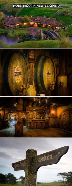 The Hobbit Bar in New Zealand.  Yep, I'm going to find a way to get to New Zealand  this summer