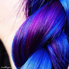 Beautiful hair colours,  blue beautiful purple colors hair
