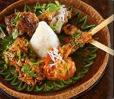 Nasi Campur in the restaurant of Amankila Manggis, Manggis, Bali, Indonesia