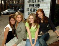 Lauren Collins, Miriam McDonald, Stacey Farber, and Shenae Grimes-Beech at an event for Degrassi: The Next Generation (2001)