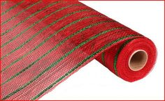 Red Thin Laser Emerald Green Stripe Poly Mesh by wreathsbyrobin See more at: https://www.etsy.com/shop/wreathsbyrobin